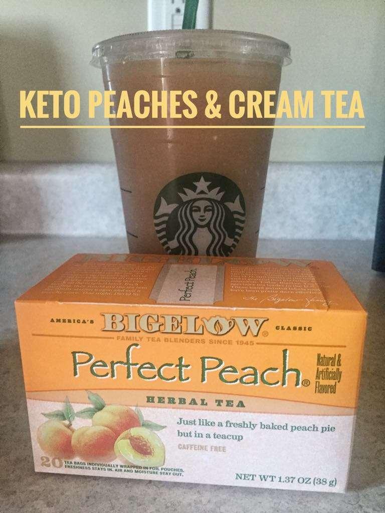 Keto Peaches & Cream Tea Recipe