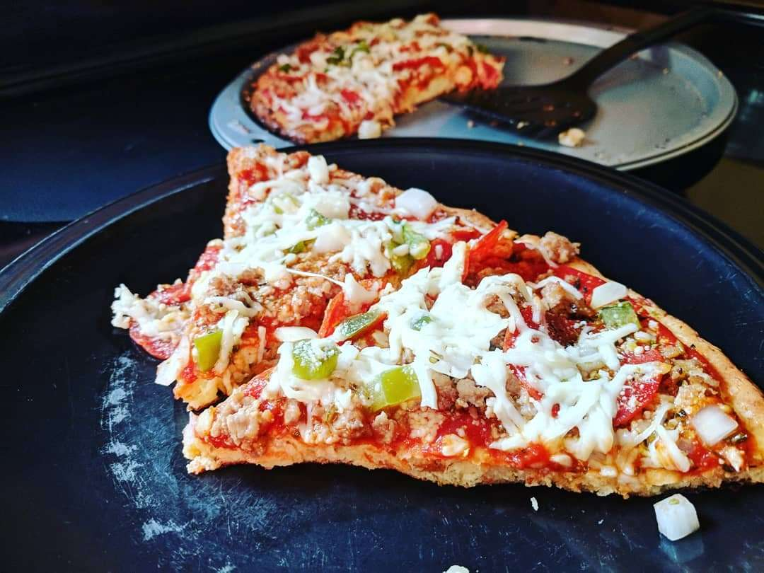 Keto Pizza Crust w/Pork Rinds